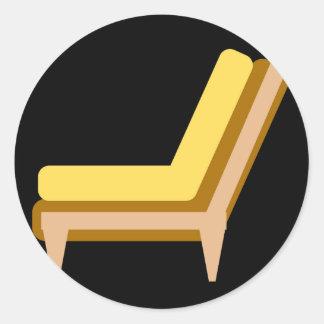家またはオフィス用家具のソファーの側面図 ラウンドシール