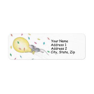 家マウスのDesigns®の宛名ラベル ラベル