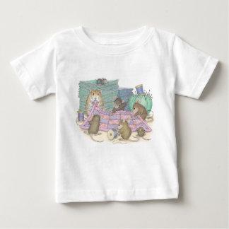 家マウスDesigns® -衣類 ベビーTシャツ