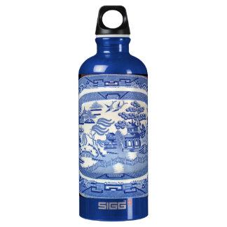 家宝として普通: 青いヤナギ ウォーターボトル
