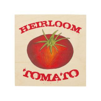 家宝のトマトの調理師の野菜食糧台所装飾 ウッドウォールアート