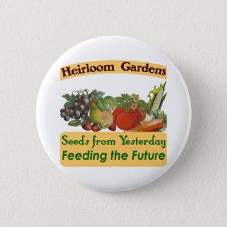 家宝は緑のことわざ庭いじりをします 5.7CM 丸型バッジ
