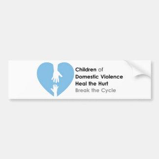 家庭内暴力の子供を支えて下さい バンパーステッカー