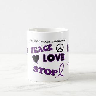 家庭内暴力の認識度のコーヒー・マグ コーヒーマグカップ