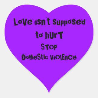 家庭内暴力 ハートシール