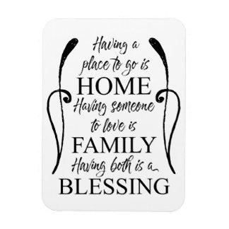 家庭家族についての感動的な引用文-天恵 マグネット