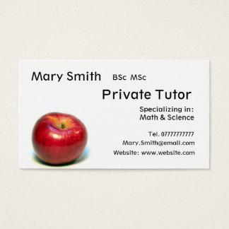 家庭教師/先生/個人的な個人教師ビジネス 名刺