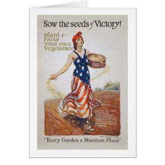 家庭菜園の自由の雌豚はWWIのプロパガンダを播きます カード