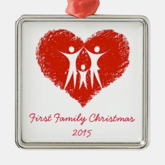 家族として初めてのクリスマス! メタルオーナメント