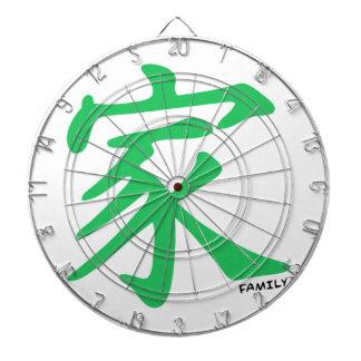 家族のためのケリーの緑の漢字 ダーツボード
