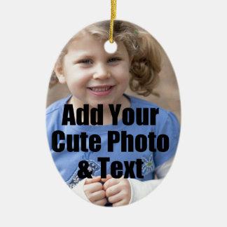 家族のための完全なギフトはあなたの写真とカスタマイズ セラミックオーナメント