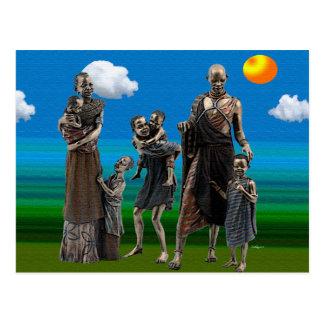 家族のアフリカ愛 ポストカード