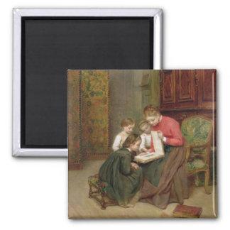 家族のアルバム1869年(キャンバスの油) マグネット