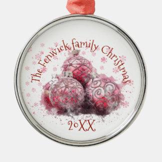 家族のクリスマス メタルオーナメント