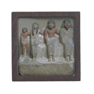 家族のグループ(チョークの顔料)の小像 ギフトボックス
