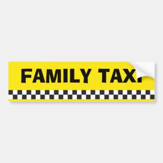 家族のタクシーサービスバンパーステッカー バンパーステッカー