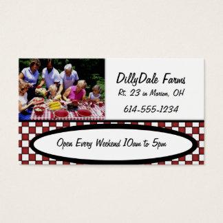 家族のピクニック食糧農場BBQ公園の名刺 名刺