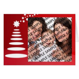 家族のポートレートのクリスマスの挨拶状のテンプレート カード