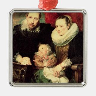 家族のポートレート、c.1618-21 メタルオーナメント