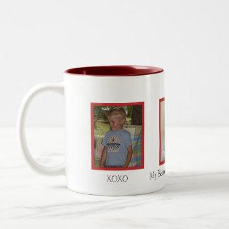 家族の写真のマグ ツートーンマグカップ