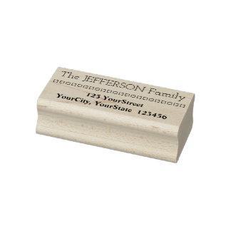 家族の名字及び住所及び正方形 ラバースタンプ