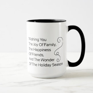 家族の喜びを望みます マグカップ