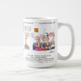 家族の夕食の漫画のマグ コーヒーマグカップ