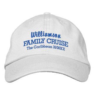 家族の巡航の野球帽のカスタムな位置及び日付 刺繍入りキャップ