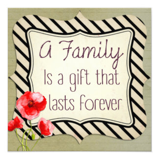 家族の感動的な引用文 カード