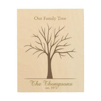 家族の指紋の木 ウッドウォールアート
