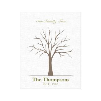 家族の指紋の木 キャンバスプリント