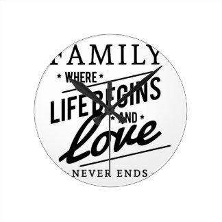 家族の時間 ラウンド壁時計