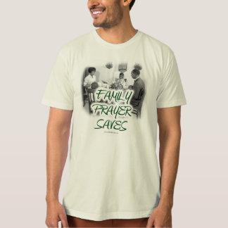 家族の祈りの言葉は救います(ORGのTシャツ) Tシャツ
