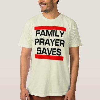 家族の祈りの言葉は救います(RED/BLACK ORGのTシャツ) Tシャツ