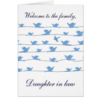 家族の義理の娘への歓迎 カード