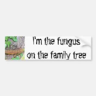 家族の菌類ライン バンパーステッカー