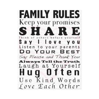 家族の規則 キャンバスプリント