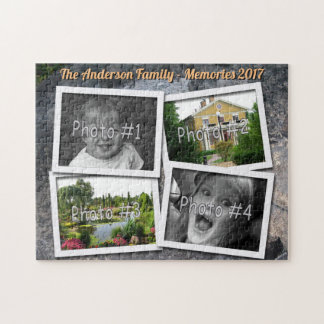 家族の記憶は4つのxのカスタムな写真石に挑戦します ジグソーパズル