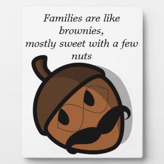 家族はブラウニーのようです フォトプラーク