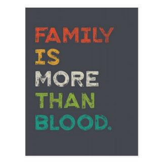 家族は愛より多くです ポストカード