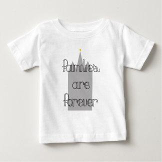 家族は永久にモルモンのldsの寺院です ベビーTシャツ