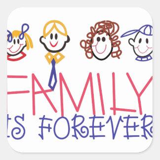 家族は永遠です スクエアシール