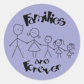 家族は永遠です ラウンドシール