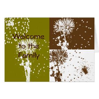 家族への歓迎 カード