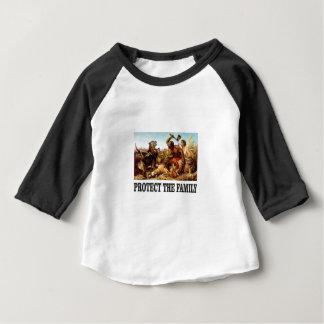家族を保護して下さい ベビーTシャツ