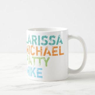 家族一流色のタイポグラフィ コーヒーマグカップ