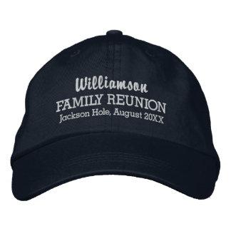 家族会の野球帽のカスタムな位置及び日付 刺繍入りキャップ