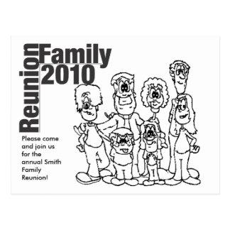 家族会の2010年の着色の招待 ポストカード