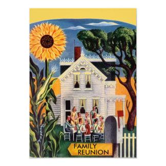 家族会5x7の招待状の発表のポーチ カード
