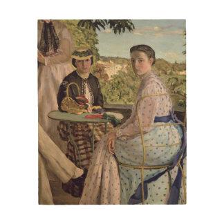 家族会、2人の女性の詳細、1867年 ウッドウォールアート